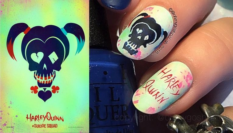 4 Awesome Harley Quinn Themed Nail Art Designs - IGN | awesome and ...