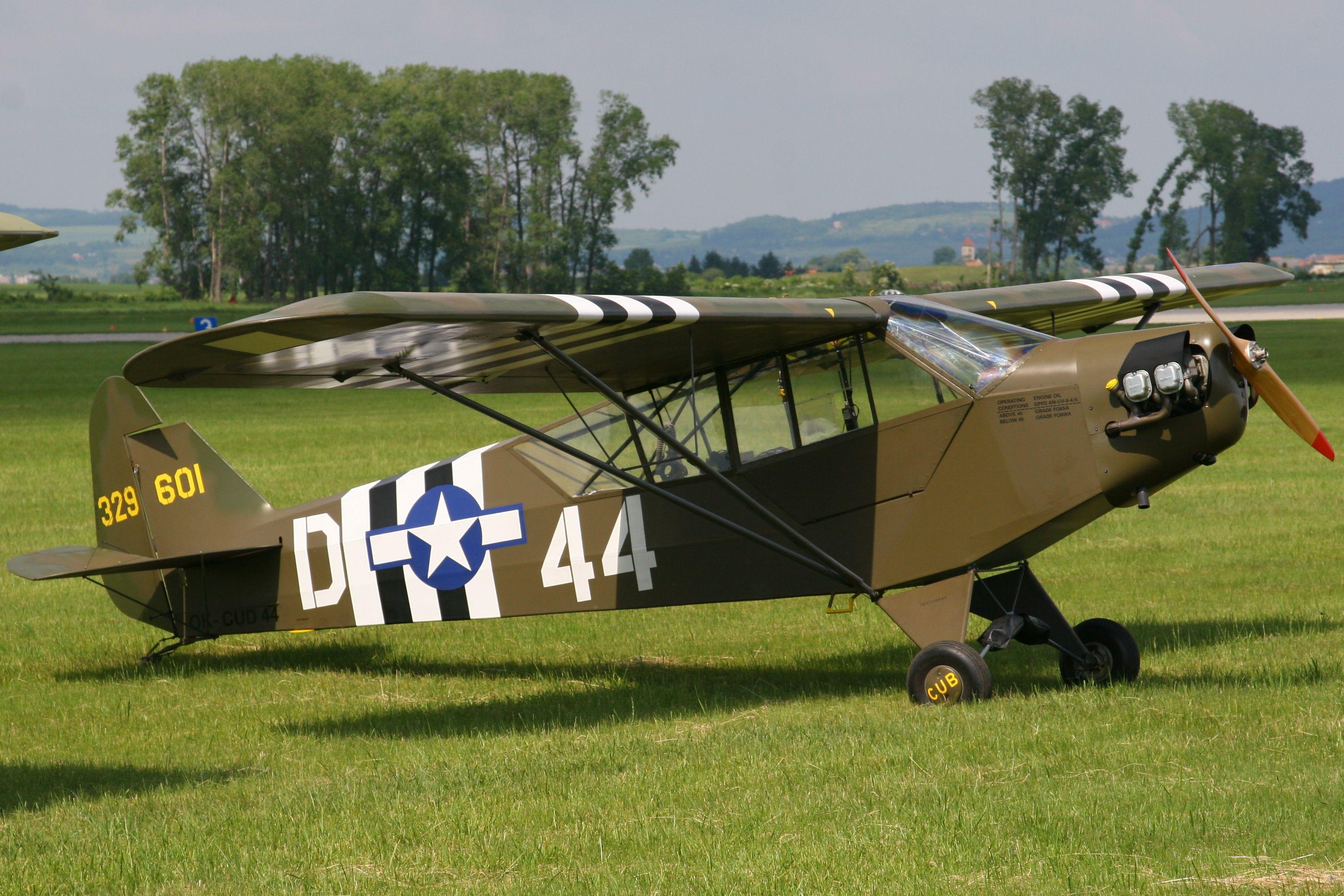 Piper Cub D-44 | airplanes | Piper aircraft, Aircraft, Airplane