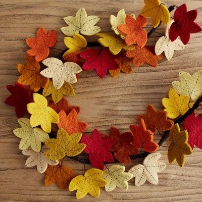 46+ Felt fall leaf garland ideas in 2021