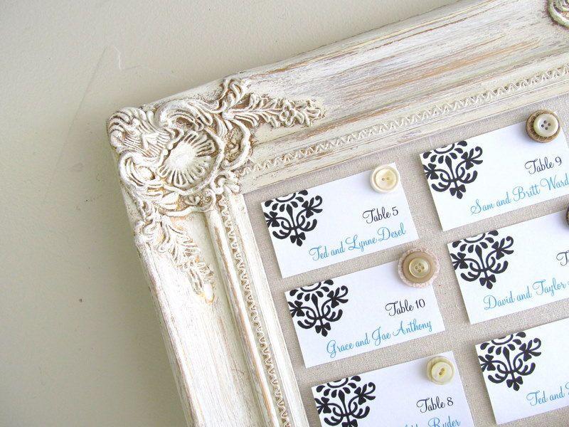 Wedding Escort Board Ideas : Board seating cards decorative bulletin wedding ideas rustic