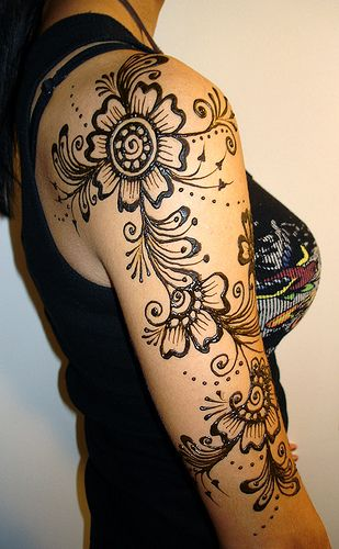 Henna Mehndi Tattoo Designs Idea For Wrist: Shoulder And Upper Arm Mehndi