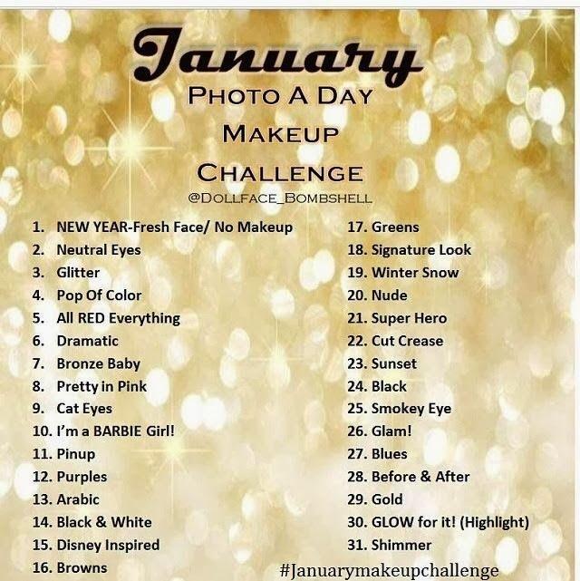 Jan 2015 Makeup Challenges New Year S Makeup Artistry Makeup