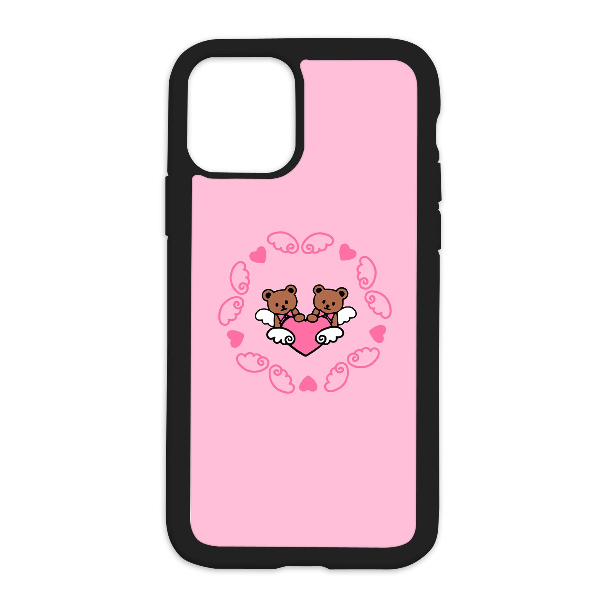 Teddy Bear Angels Design On Black Phone Case - XR