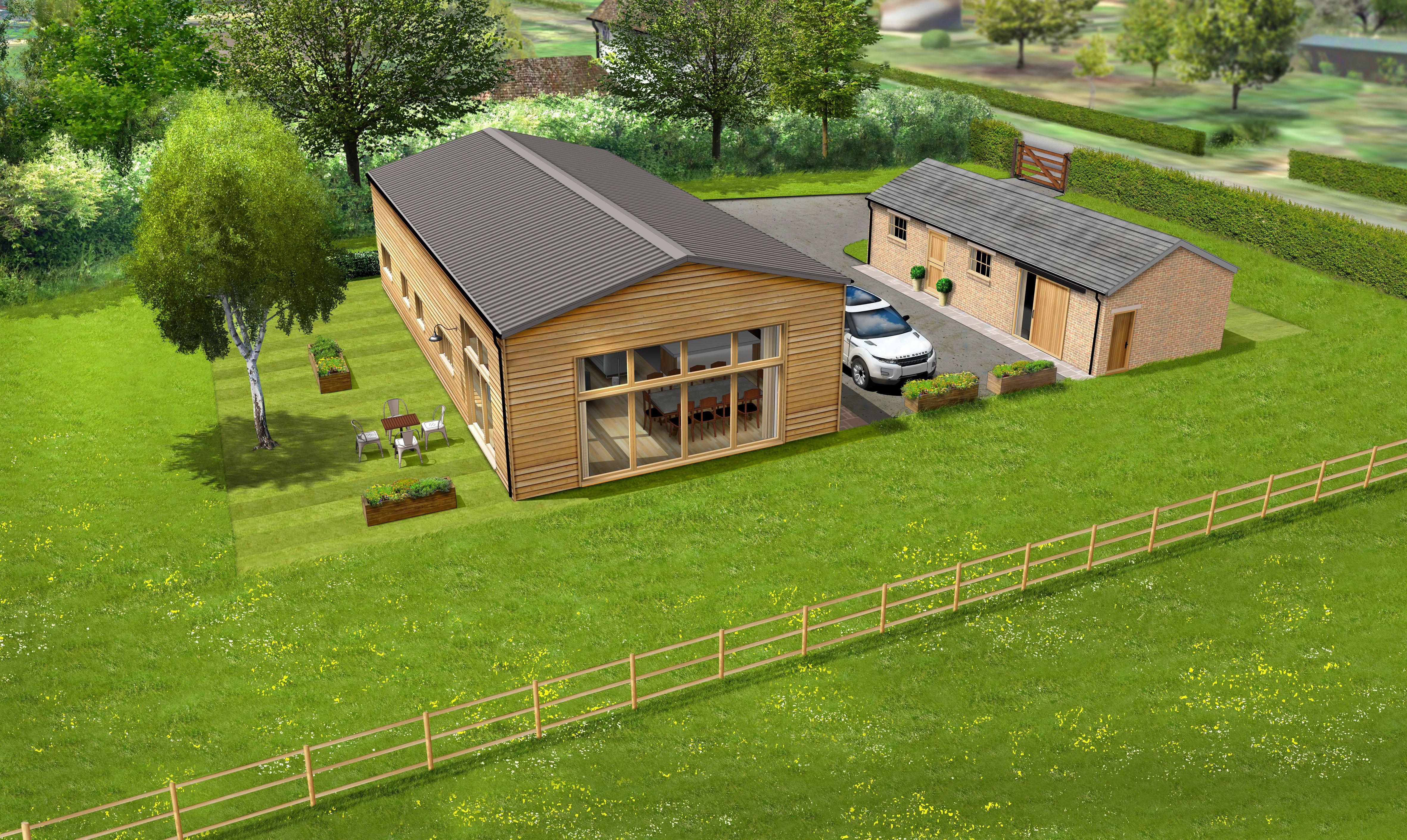 Metal Barn Into Home Conversion
