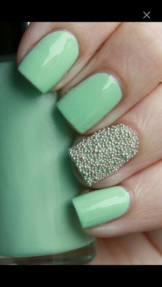 Mint chocolate chip | Nails | Pinterest