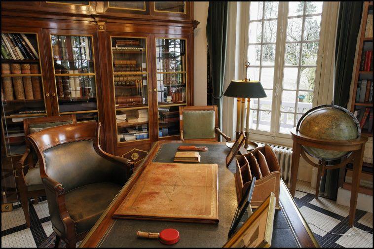 FRANCE. Haute Marne departement. Champagne Ardenne region. Colombey-les-deux-églises. Charles DE GAULLE's office.