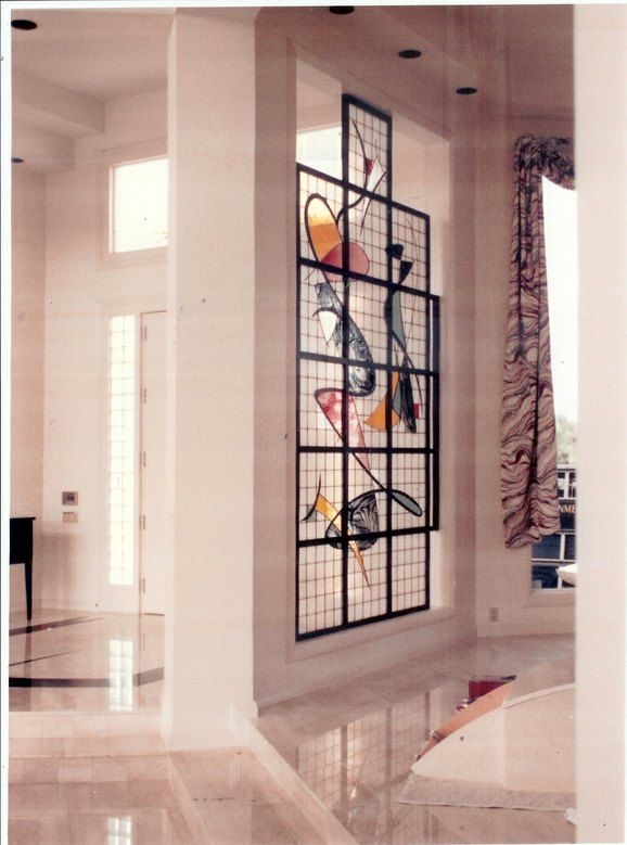 Stained Glass Partitions With The Wow Factor By Art Glass Environments Inc Glass Partition Glass Blocks Wall Glass Room Divider