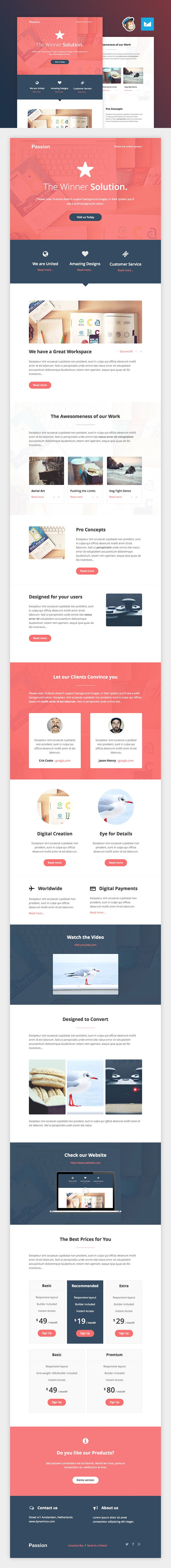 Passion Free Responsive Email Template In Html Pdf Web