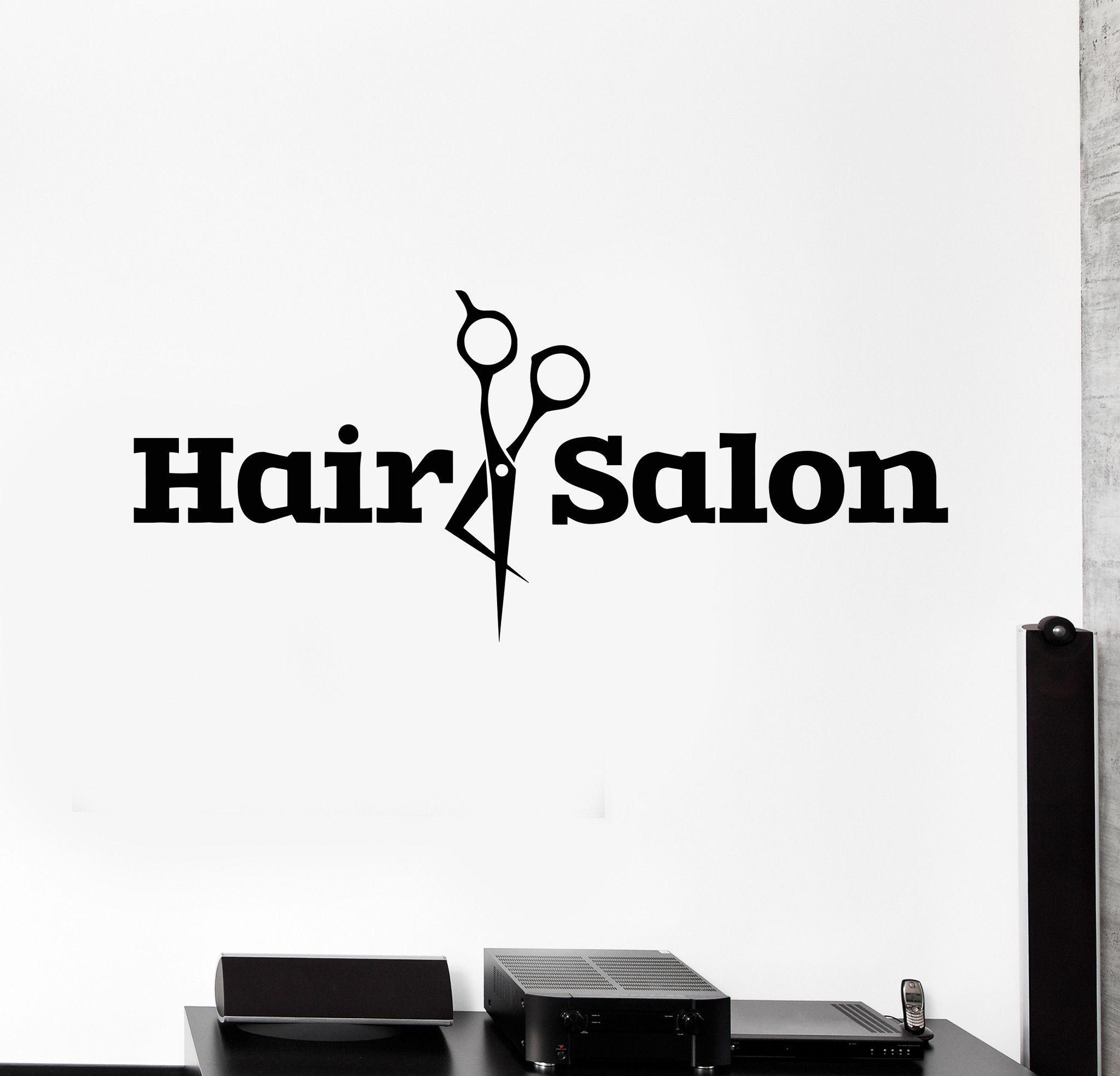 Vinyl Wall Decal Hair Salon Scissors Barbershop Stylist Stickers - Where to get vinyl stickers made