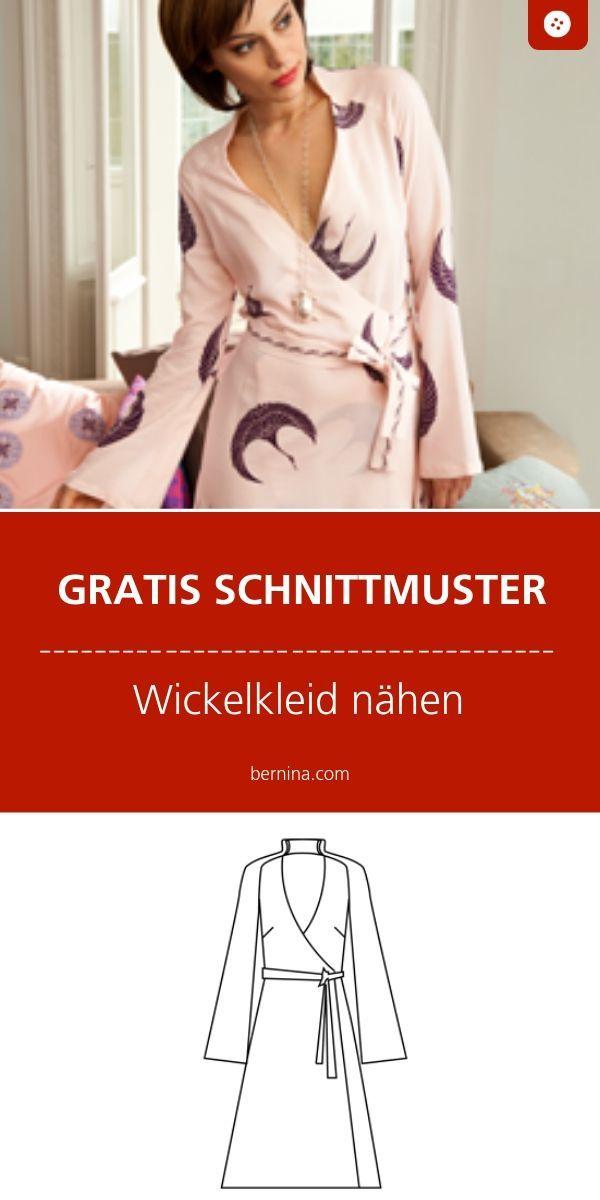 Photo of Kostenloses Schnittmuster für ein einfaches Wickelkleid