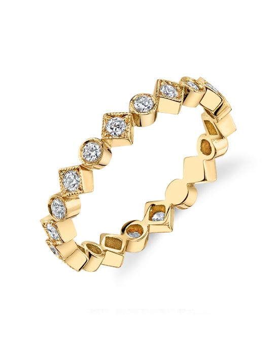 """Erica Courtney presents Platinum """"Sol"""" Band, accented with 0.51ctw diamonds"""