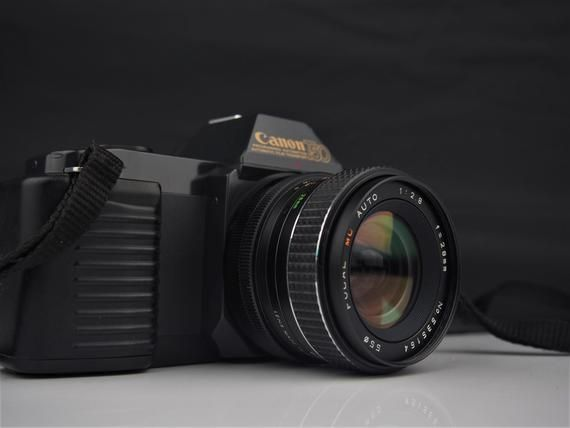 Canon T50 SLR Film Camera + 28mm f2.8 Wide Angle Prime Lens Excellent and Film Tested #wideangle