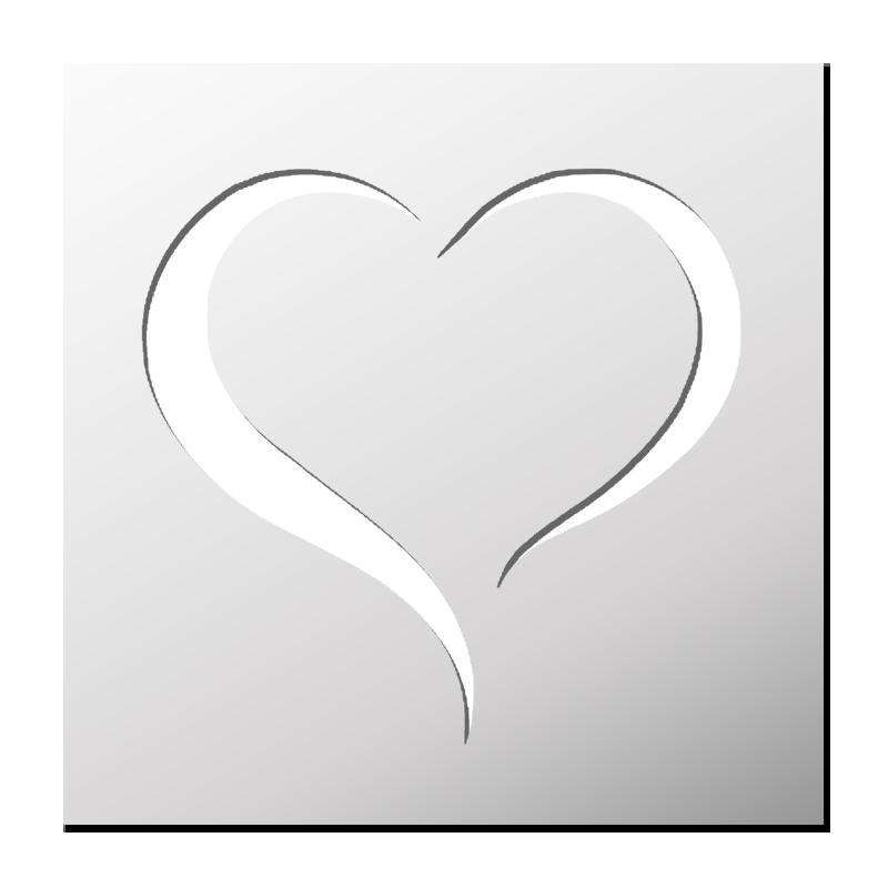 Pochoir Coeur Pochoir Pochoir Personnalise Stickers