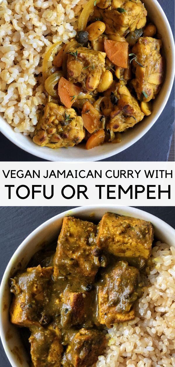 Vegan Jamaican Curry Tofu Authentic Recipe From The Comfort Of My Bowl Recipe Vegan Soul Food Vegan Curry Recipes Vegan Recipes Healthy