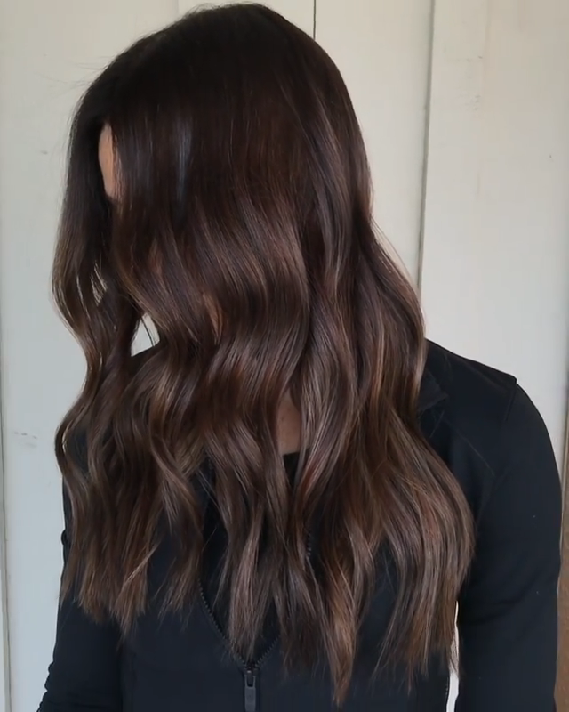 Photo of BROWN-WAVY HAIR