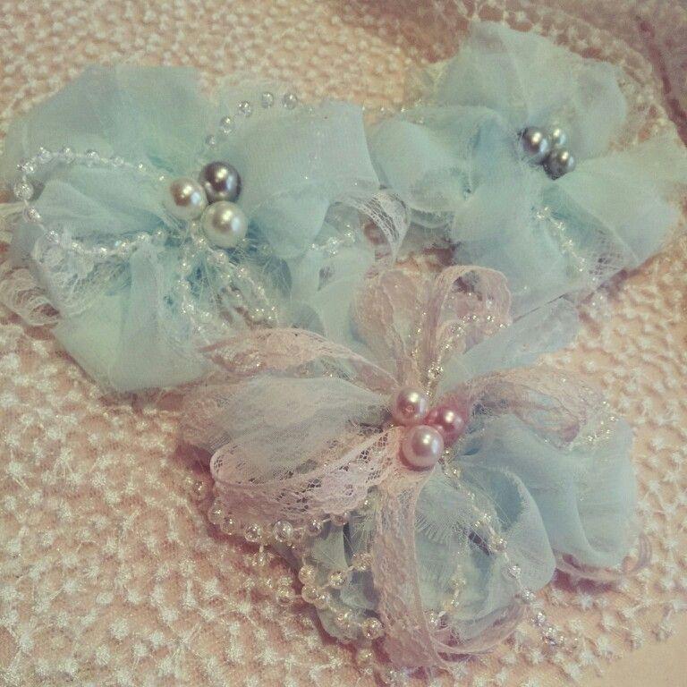 Chiffon/Lace Gatsby Flowers created by Bona Rivera-Tran.