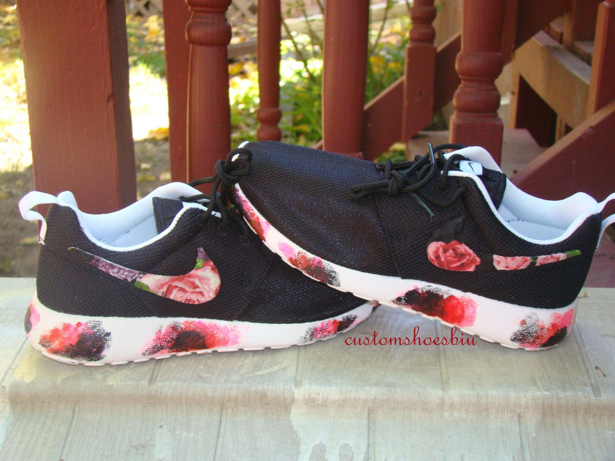 a9bc247095f72 Custom Nike Roshe Run- Floral Nike Roshe Runs with Paint Soles- Women   Men Kids