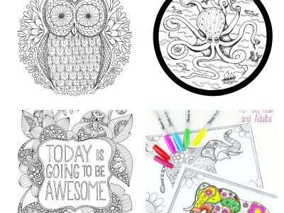 Gorgeous Printable Owl Feather Bookmarks