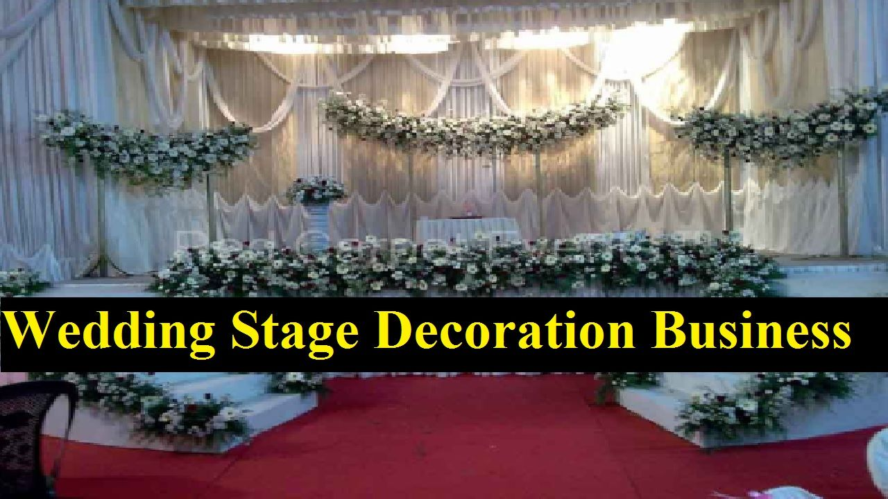Wedding stage decoration dubai  Do you want to start a profitable business with little capital in