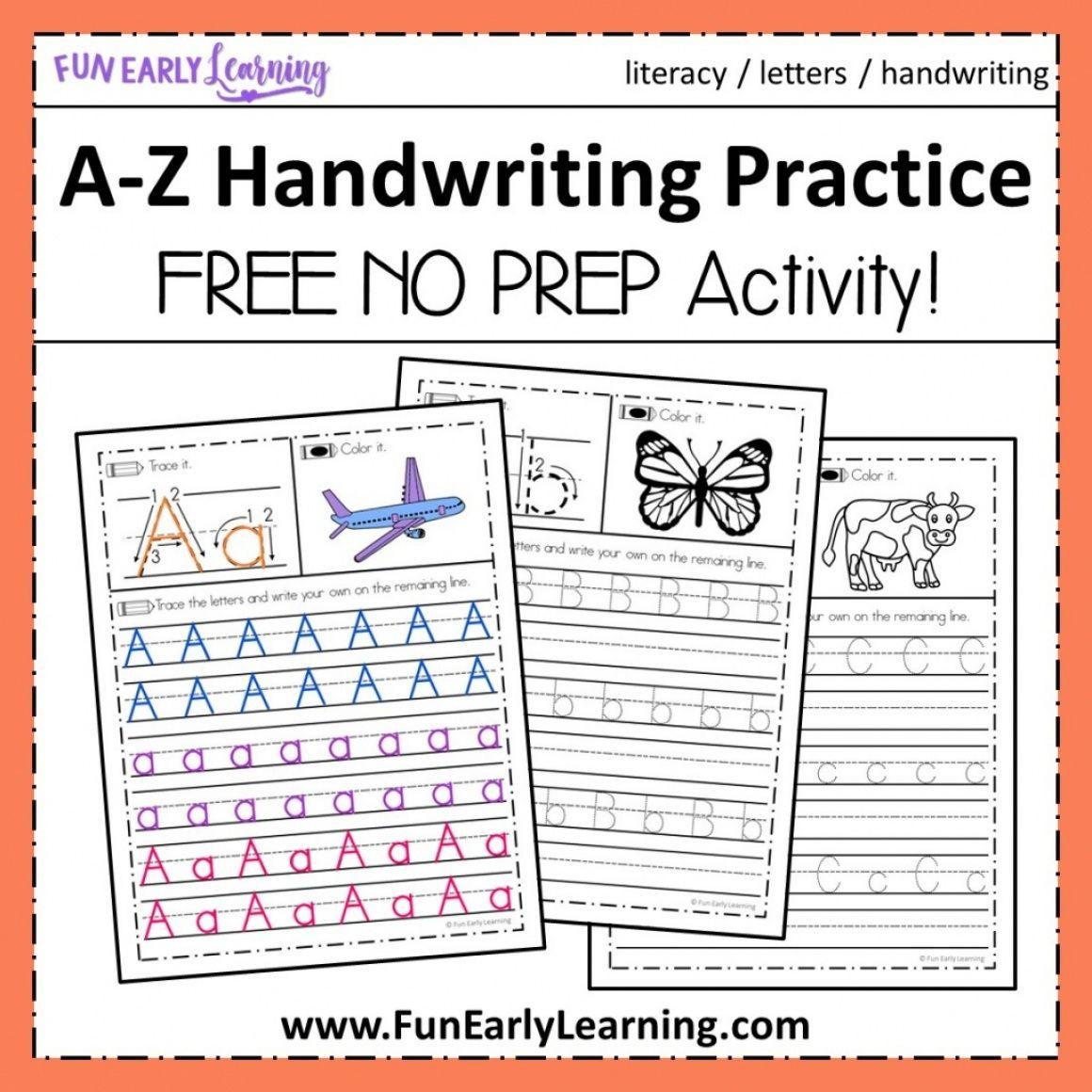 A Z Handwriting Practice Kids Handwriting Practice Handwriting Practice Free Handwriting Practice Worksheets