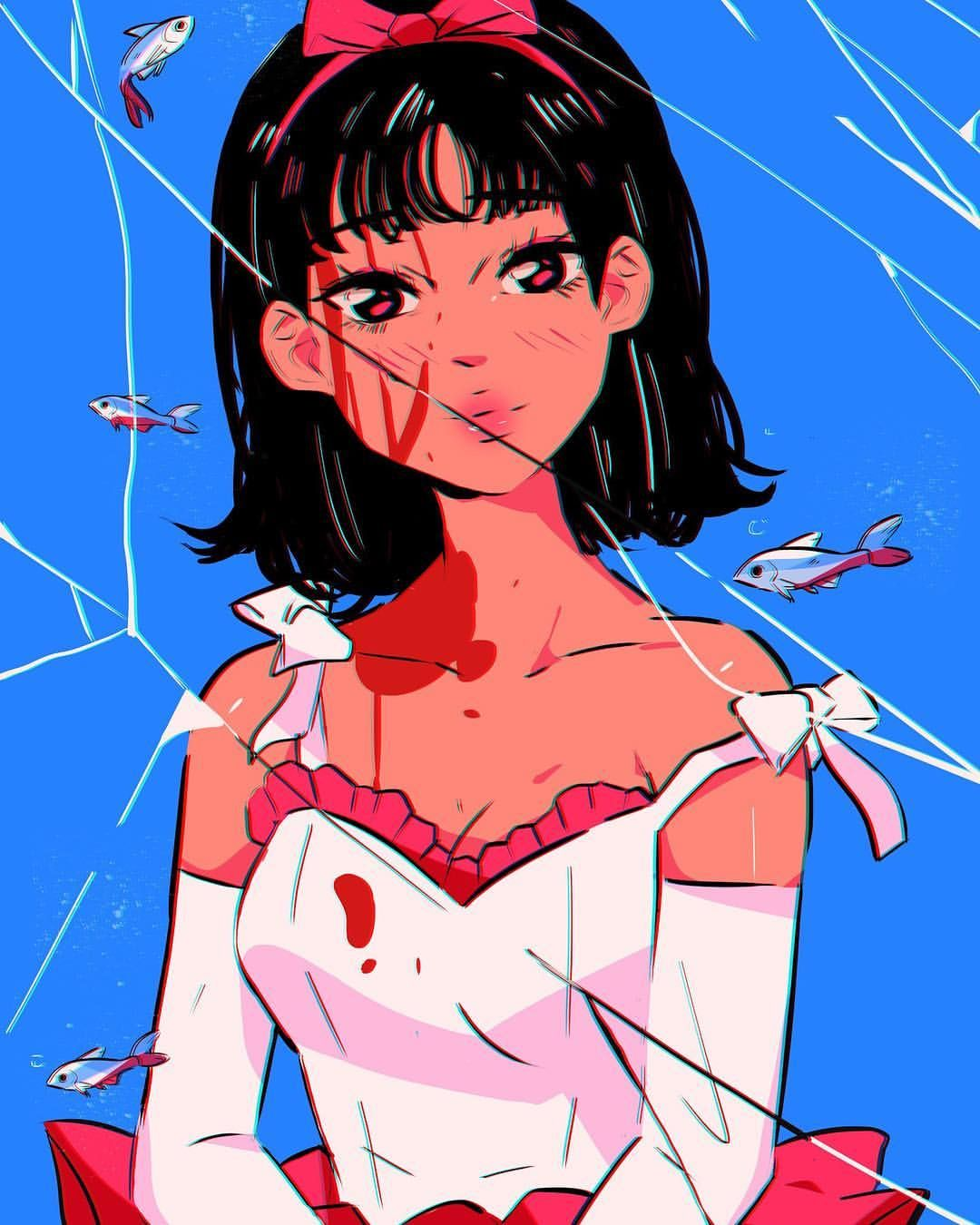 No I M The Real Thing Here S Mima From Perfect Blue Some Of You Guys Requested It Took Me Idk How Many Days To Act Cute Art Character Art Aesthetic Art