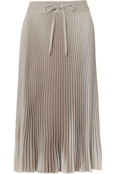 8609ebab81 REDValentino - Pleated Satin Midi Skirt - Gray in 2019 | Products ...