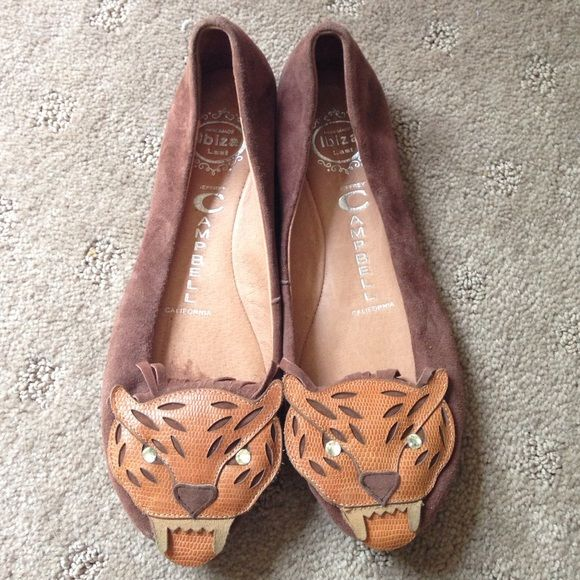 Jeffrey Campbell brown suede Tiger flats From Nordstrom. Worn 3x. In excellent condition, like new Jeffrey Campbell Shoes Flats & Loafers