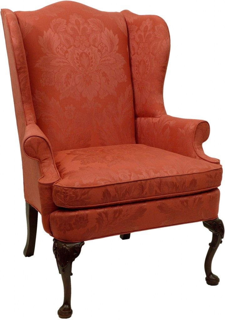 Roter Ohrensessel Image Of Queen Anne Wing Chair | Furniture | Chair, Wing