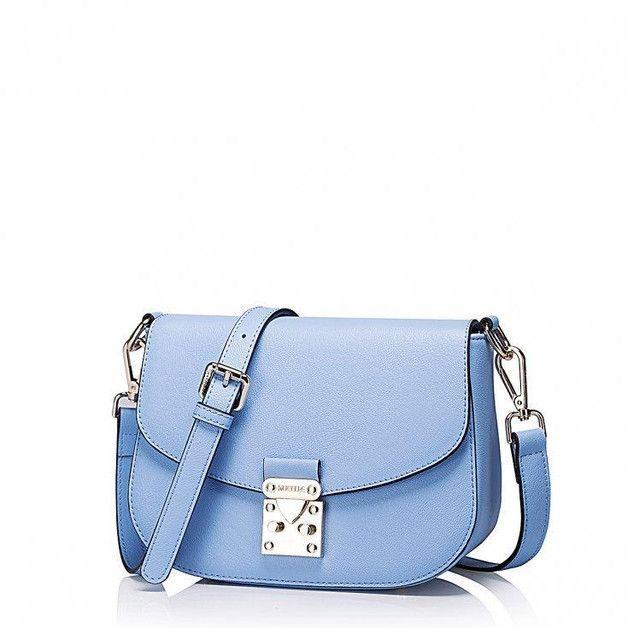 14577159f94fb LITTLE BLUE SKÓRZANA TOREBKA DAMSKA NIEBIESKA - FashionBoutique - Torby na  ramię
