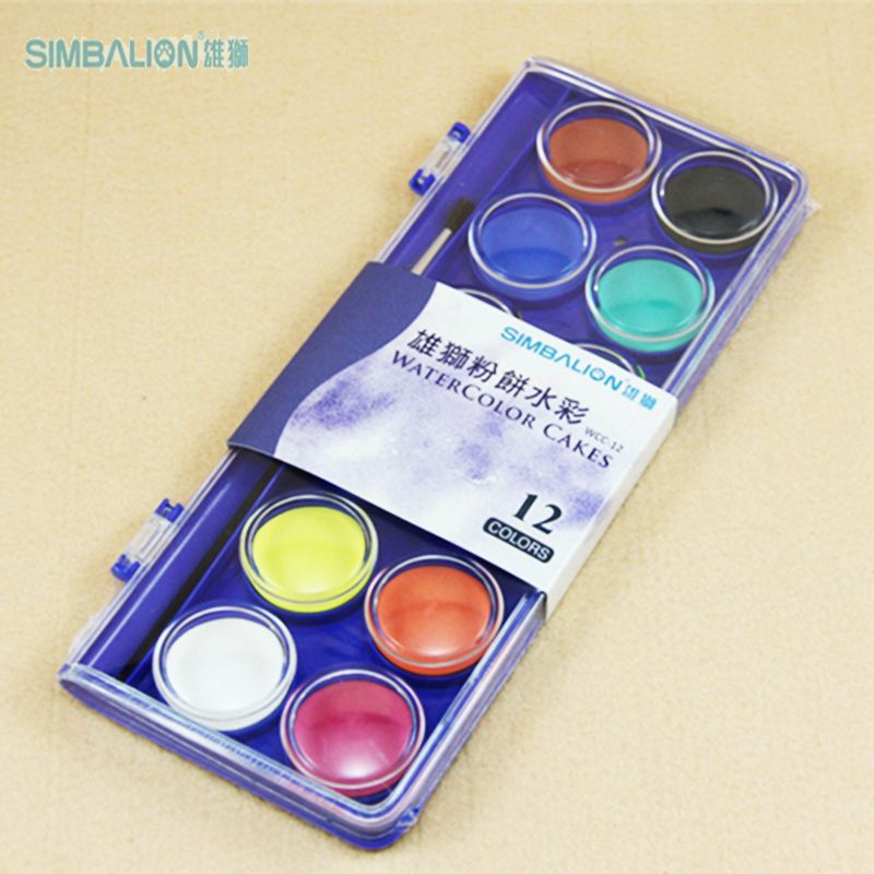 Taiwan Simbalion 12 16 36 Solid Colors Transparent Watercolor