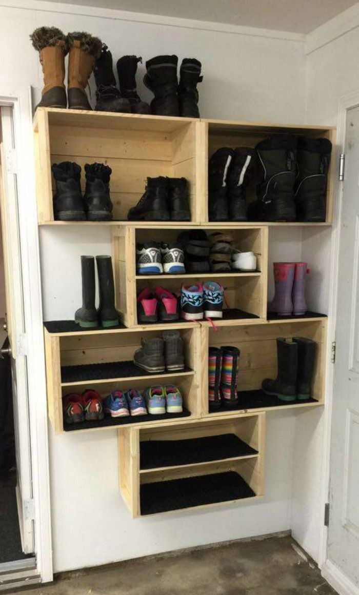 20 Diy Shoe Storage Ideas Easy Shoe Storage Entryway Shoe