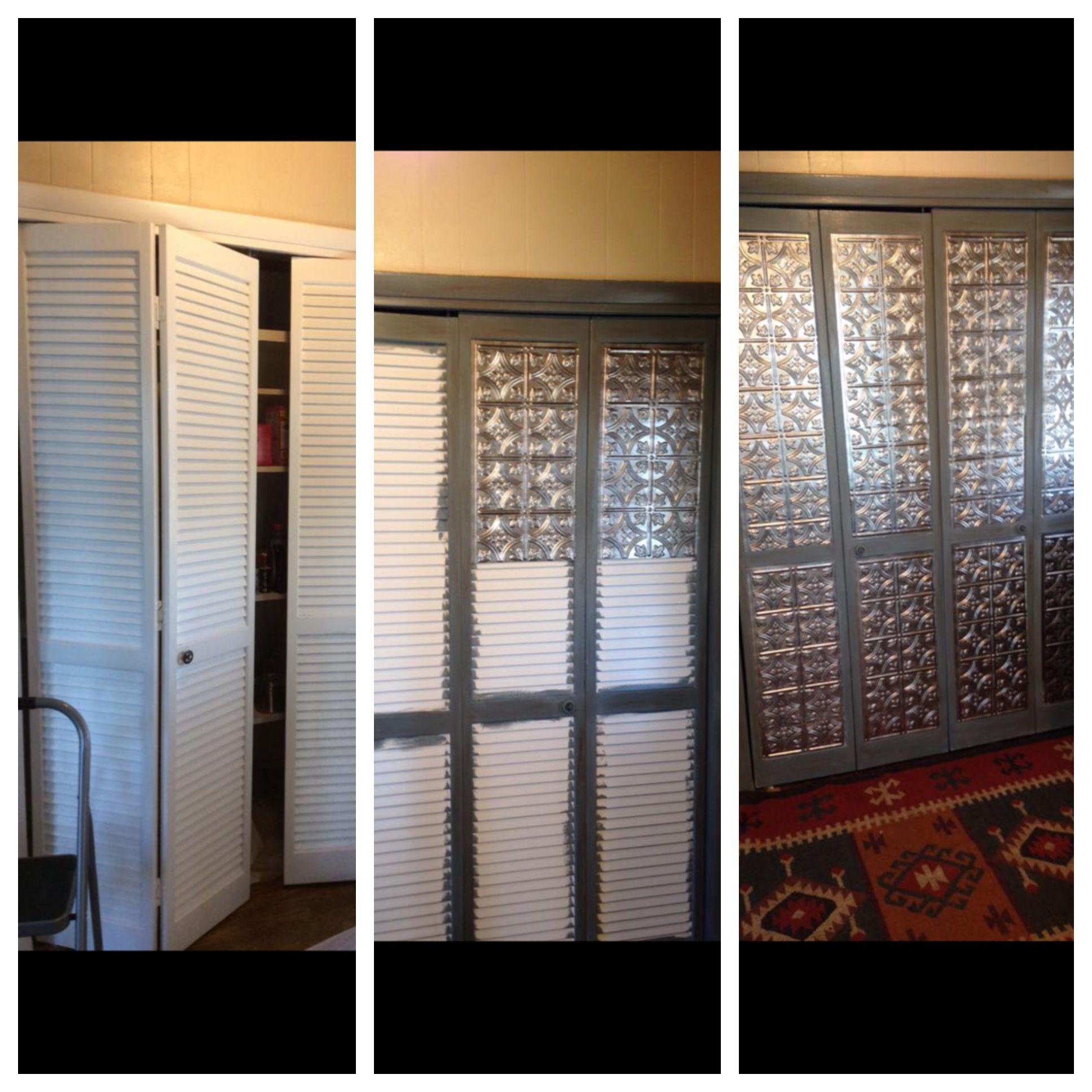 Louvered door makeover. … Door makeover diy, Door