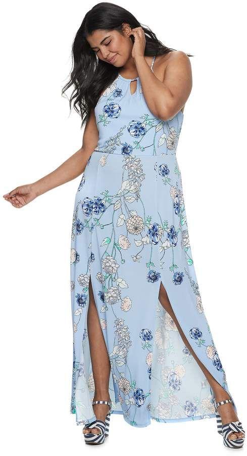Candies Juniors\' Plus Size Candie\'s Halter Maxi Dress in ...