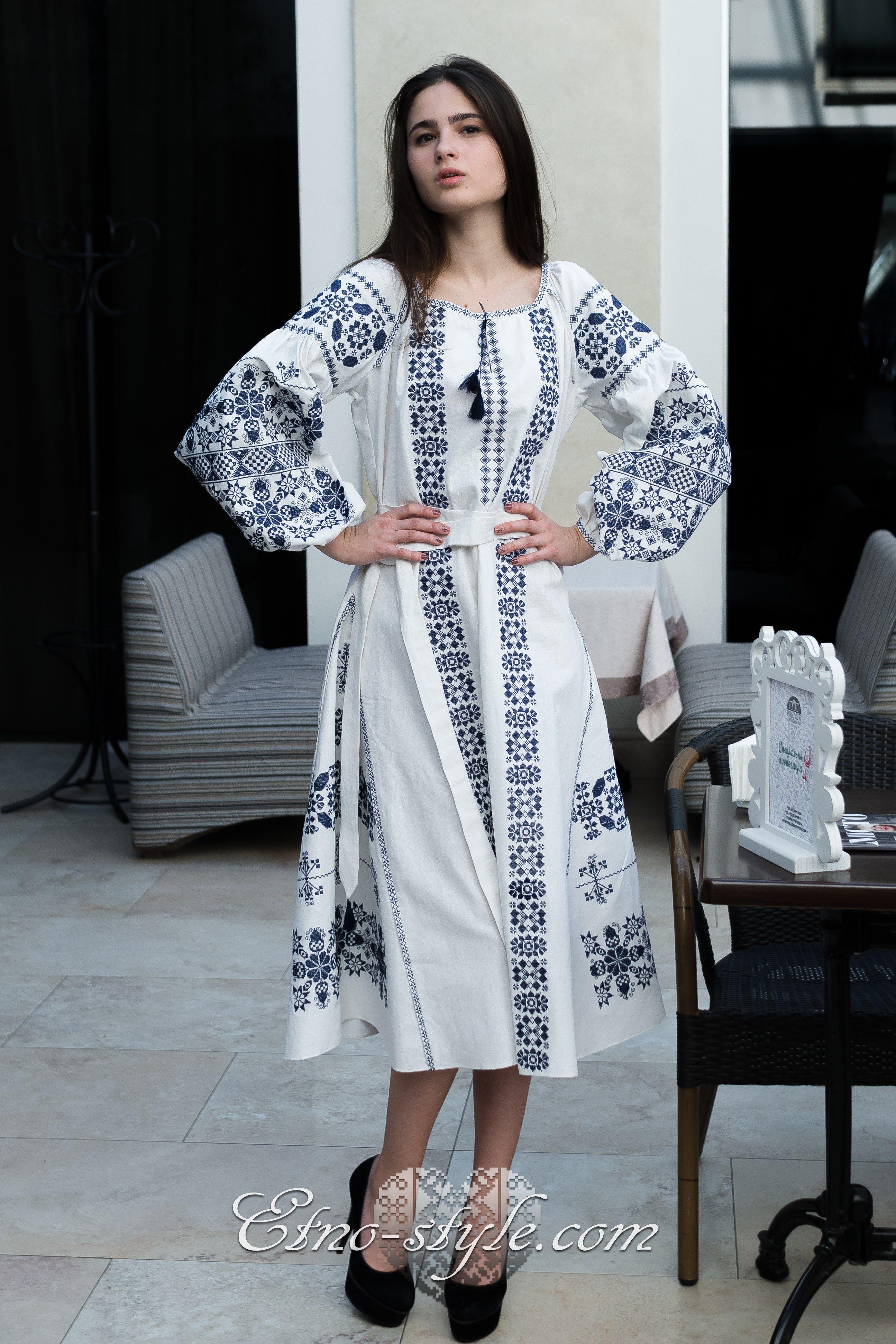 Жіноче вишите плаття Богемія etno-style Eminem 117963569e690