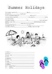 image relating to Summer Mad Libs Printable called Summer months Family vacation Crazy Libs