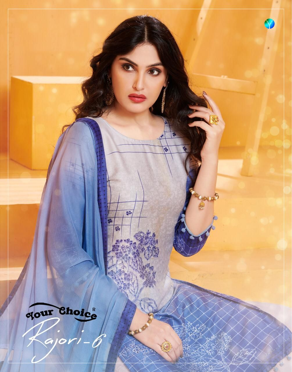 81182a11f0 YOUR CHOICE RAJORI VOL 6 PRINTED PURE COTTON DRESS MATERIAL COLLECTION AT  WHOLESALE RATE