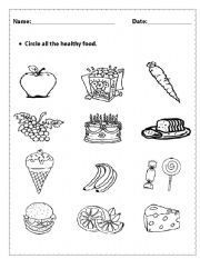 food worksheets for preschool | Vocabulary worksheets > Health ...