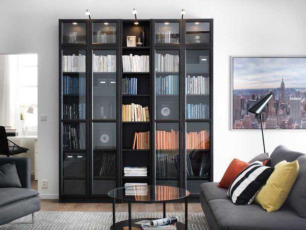 Estanter as para organizar una biblioteca en el sal n for Organizar salon