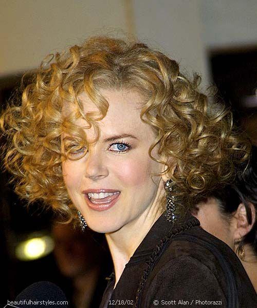 Pleasant Nicole Kidman With Big Short Curly Hair Full Of Loose Spirals Short Hairstyles Gunalazisus