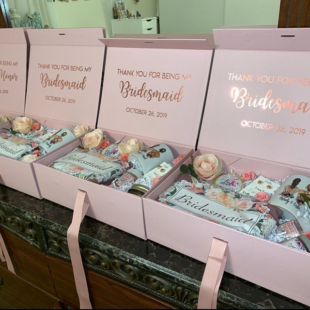 Bridesmaid Gift Box Personalized Bridesmaids Proposal Decorative Box Custom Wedding Box with Names Message Be my Bridesmaid or Maid of Honor