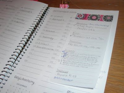 College Prep Stick Itstay organized and on task with lists - college planner organization