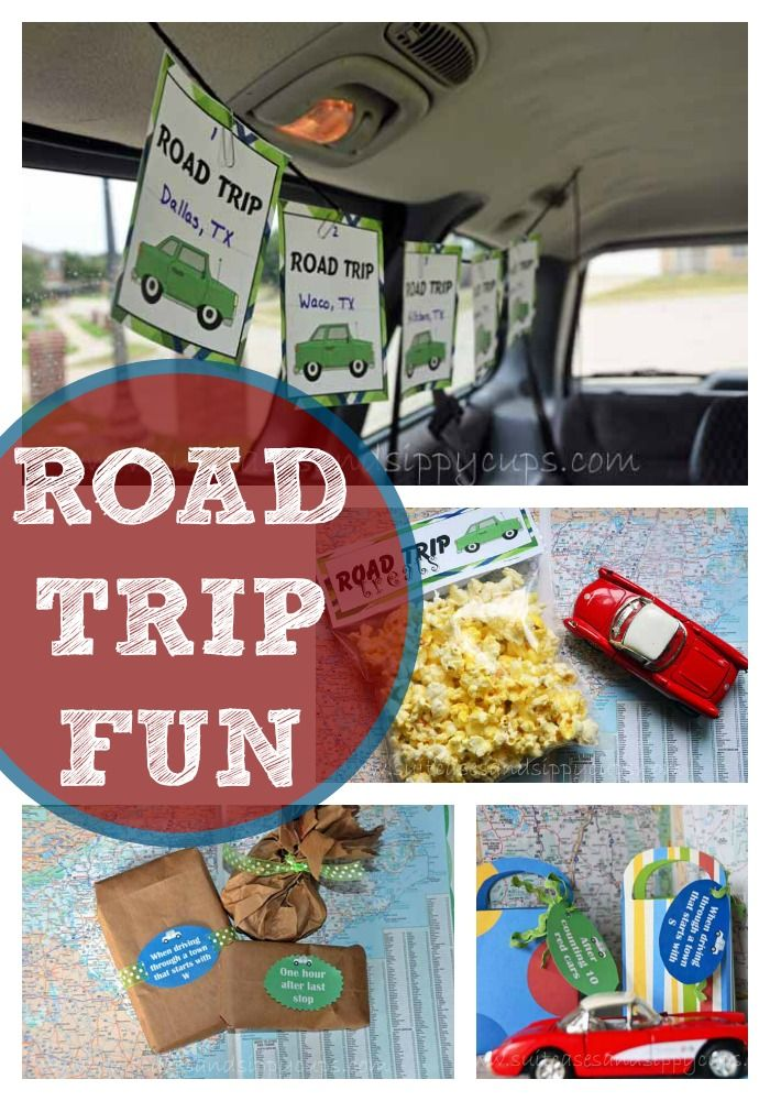 Road Trip Fun Activities for Kids~Mile Countdown Cards, Treat Toppers and More ~Free Printables~