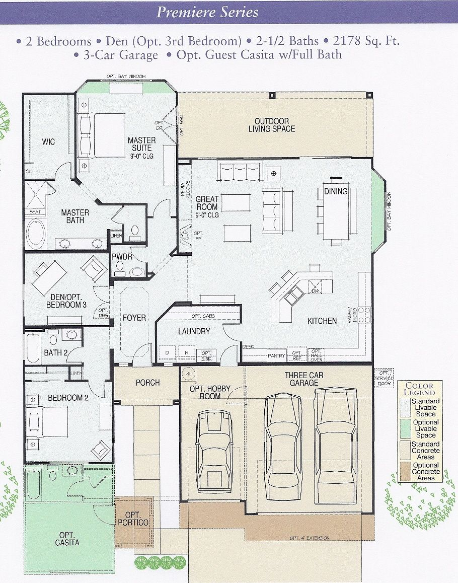 Robson Ranch Talavera Floor Plan | maisons houses | Pinterest | Ranch