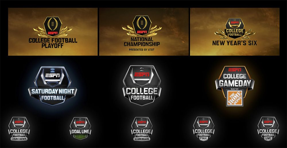Brand New New Logo And On Air Packaging For Espn College Football By Loyalkaspar Espn College Football College Football College Football Championship