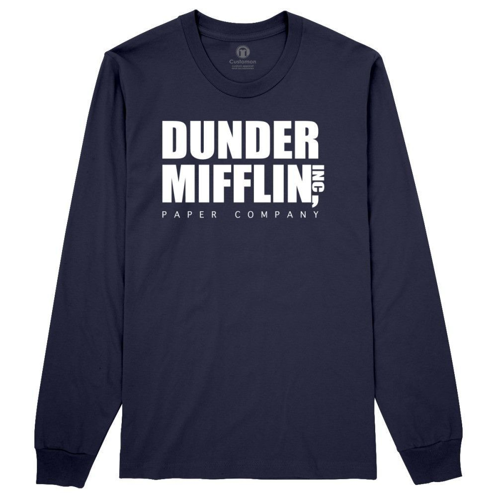 Dunder Mifflin Paper Company Long Sleeve T Shirt Long Sleeve Tshirt Men Long Sleeve Long Sleeve Tshirt