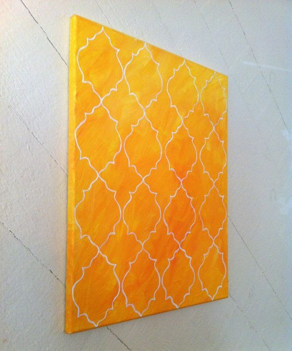 Yellow Moroccan Tile Painting $49 OnMyWalls on Etsy - Canvas Art ...