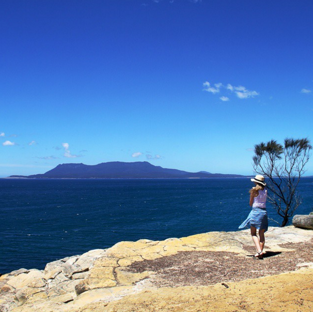 Enjoy the quiet on car-free Maria Island.