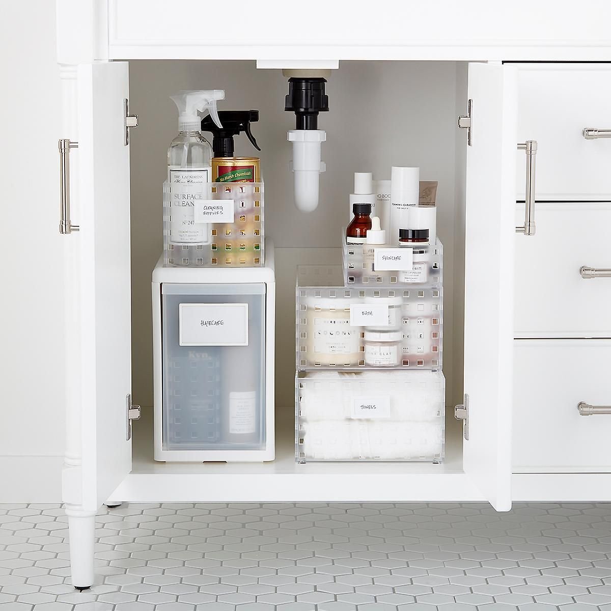 Like It Under The Sink Starter Kit In 2020 Container Store Bathroom Storage Cabinet Sink
