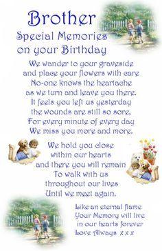 d86c9d8c7990702db374cda109a3f342 a* brother son grandson birthday graveside bereavement memorial