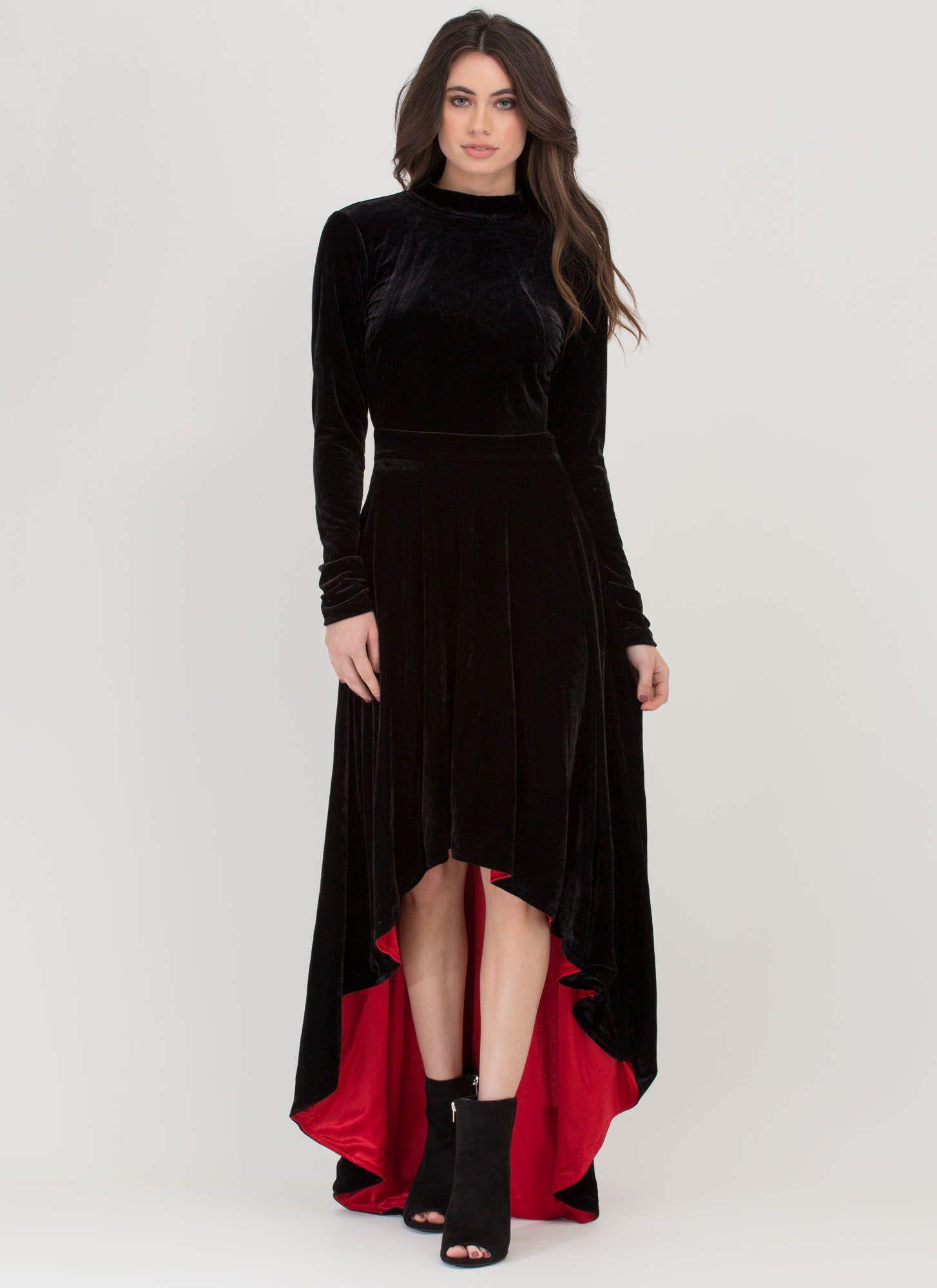 Velvet Kiss High Low Open Back Dress Black Gojane Com Long Sleeve High Low Dress Long Sleeve Evening Dresses Elegant Midi Dresses [ 2000 x 1454 Pixel ]